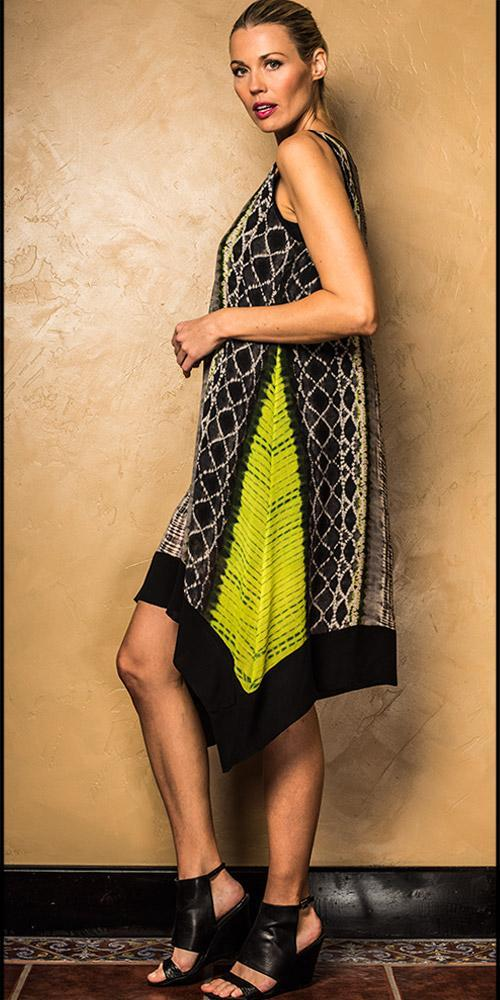 Shibori Handkerchief Dress