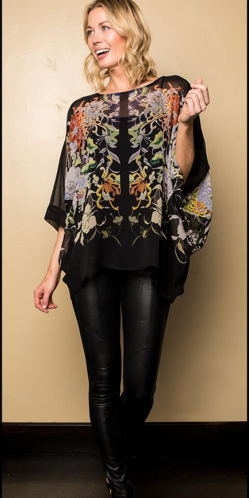 FLORAL SYMMETRY TUNIC